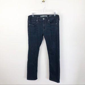 BKE Aiden Straight Leg Jeans Dark Wash Mid Rise 32